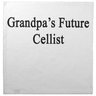 Grandpa's Future Cellist Cloth Napkin