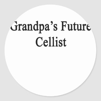 Grandpa's Future Cellist Round Sticker