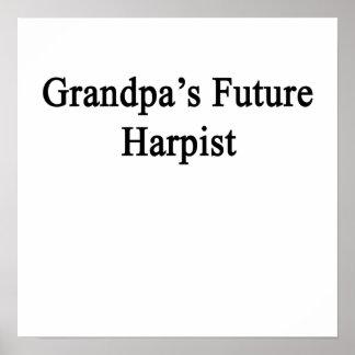 Grandpa's Future Harpist Poster