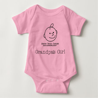 Grandpa's Girl Baby Bodysuit