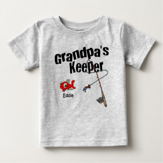 Grandpa's Keeper Eddie Baby T-Shirt