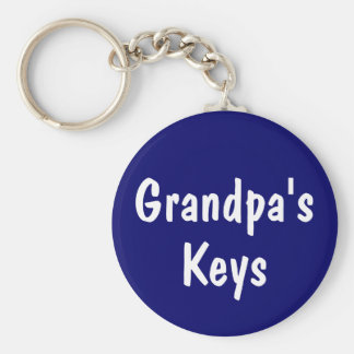 Grandpa's Keys Key Ring
