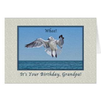 Grandpa's Laughing Gull Bird Birthday Card