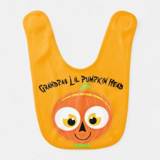 Grandpas Lil Pumpkin Head Baby Bibs