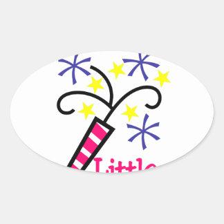 Grandpas Little Firecracker Oval Sticker