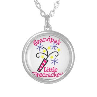 Grandpas Little Firecracker Silver Plated Necklace