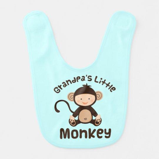 Grandpa's Little Monkey Baby Boy Bib