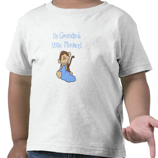 Grandpa's Little Monkey - Blue Tshirts and Gifts