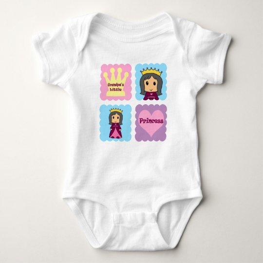 Grandpa's Little Princess Baby Bodysuit