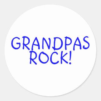 Grandpas Rock Blue Stickers