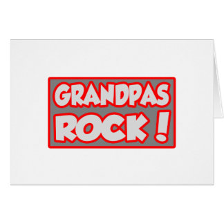Grandpas Rock! Card