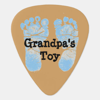 """Grandpa's Toy"" Guitar Photo Guitar Pick"
