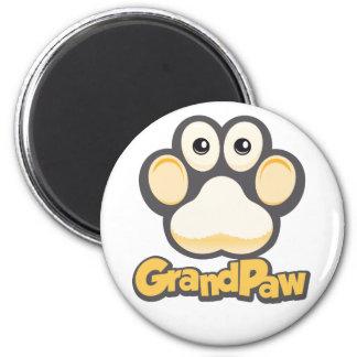 Grandpaw logo round magnet