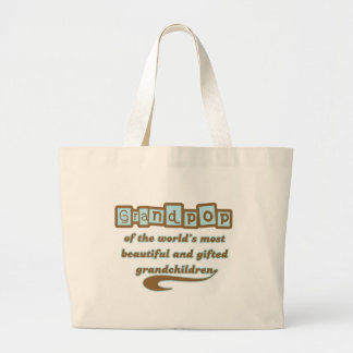 Grandpop of Gifted Grandchildren Tote Bags