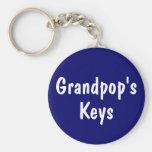 Grandpop's Keys Key Chains