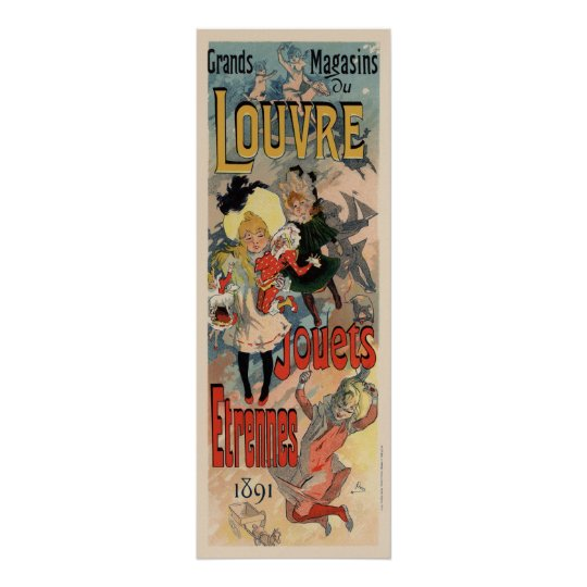 Grands Magasins du Louvre 1891 Poster