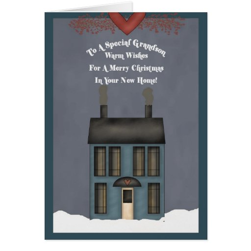 Grandson, 1st Christmas in New Home Cards