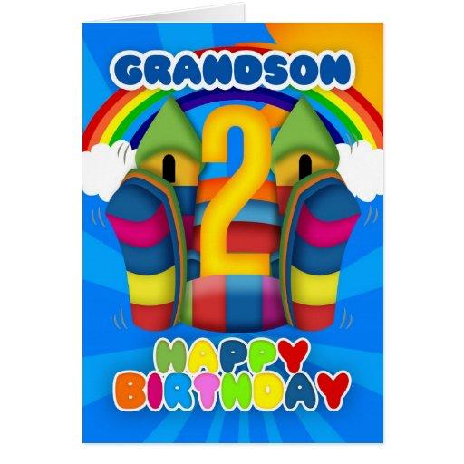 Grandson Birthday Cards, Photo Card Templates, Invitations