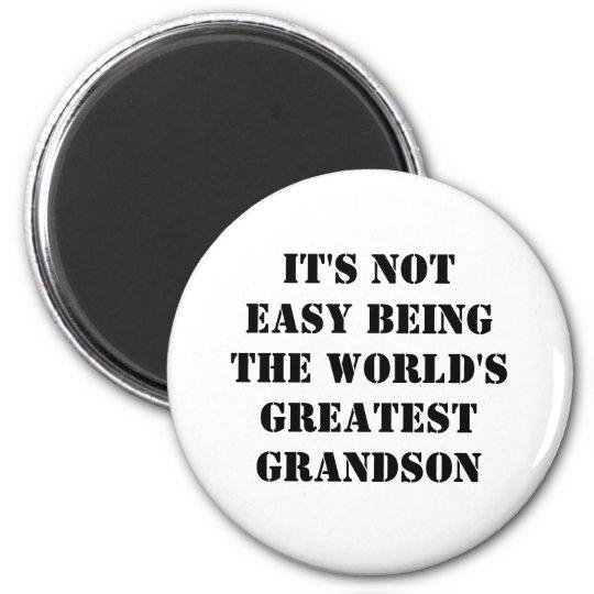 Grandson 6 Cm Round Magnet