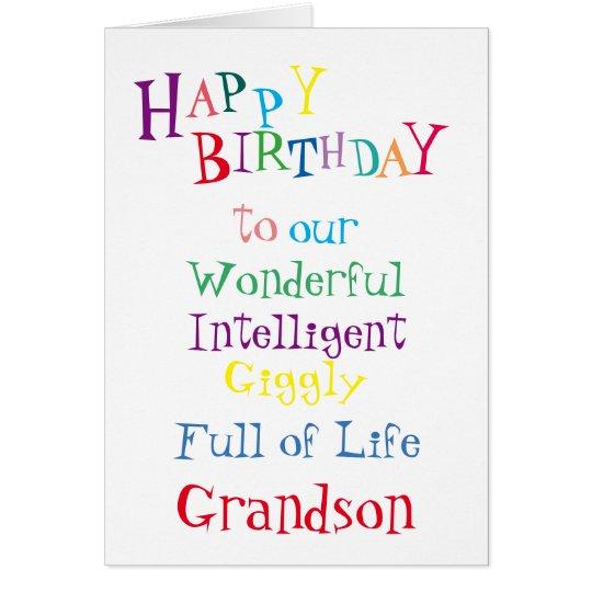grandson birthday card.boys.sons.male card
