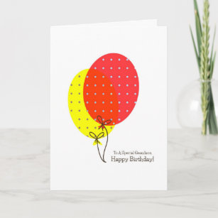 Balloon For Grandsons Birthday Cards Zazzle Uk