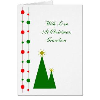 Grandson Christmas Card Christmas Trees