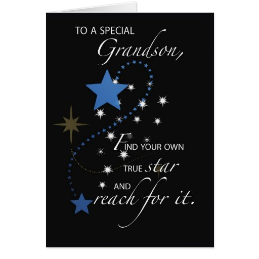 Grandson Graduation Star Congratulations Card