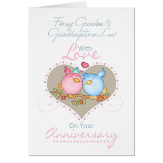 Grandson & Granddaughter-in-Law Anniversary Card W