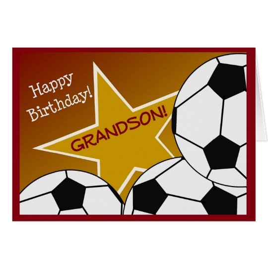 Grandson - Happy Birthday Soccer Loving Grandson Card
