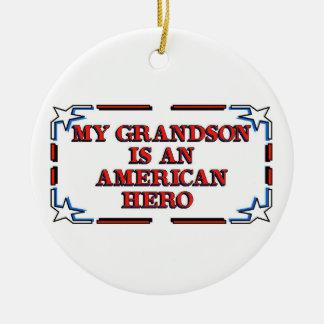 Grandson Hero Christmas Tree Ornaments