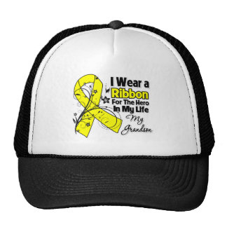 Grandson Hero in My Life Sarcoma Awareness Hats