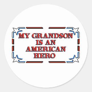 Grandson Hero Stickers