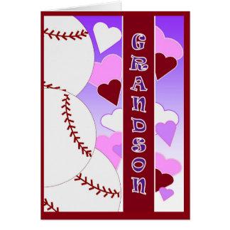 Grandson - I Love You More Than U Love Baseball Card