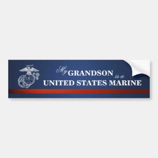 Grandson is a Marine Bumper Sticker