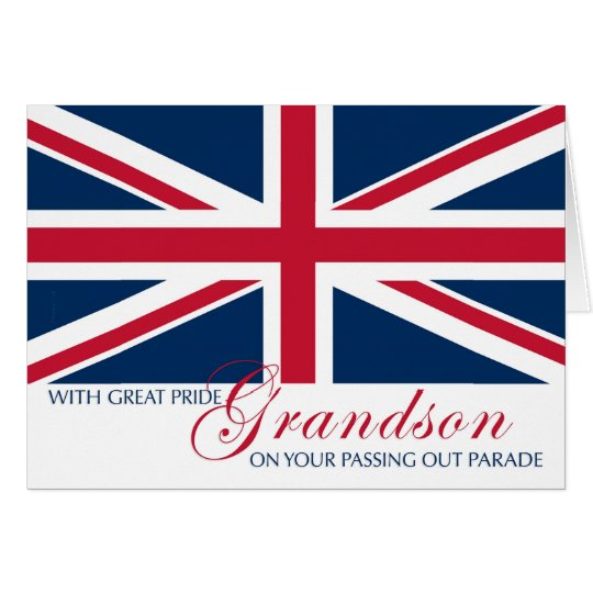Grandson Marching in Passing Out Parade Union Jack