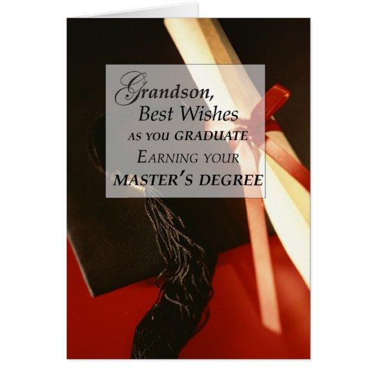 Grandson Master's Degree Graduation Wishe Card