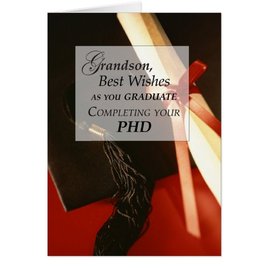 Grandson PHD, Doctorate, Graduation Wishes Card