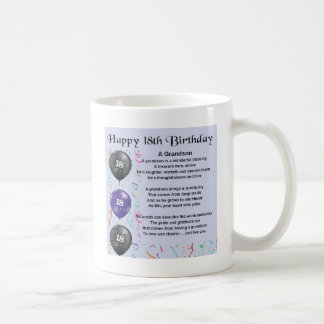 Grandson Poem - 18th Birthday Coffee Mug