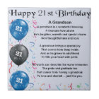 Grandson Poem  -  21st Birthday Tile
