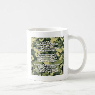 Grandson Poem Army Camouflage Coffee Mug