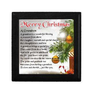 Grandson Poem - Christmas Design Gift Box