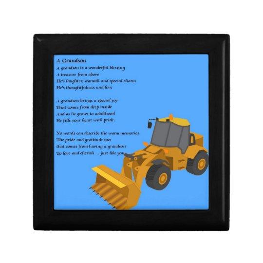 Grandson Poem - digger Gift Box