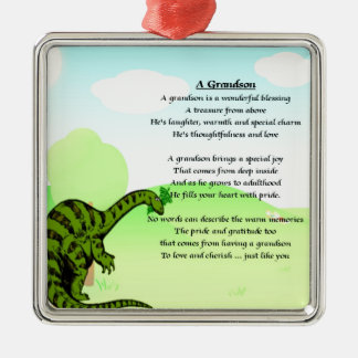 Grandson Poem - Dinosaur Christmas Ornament