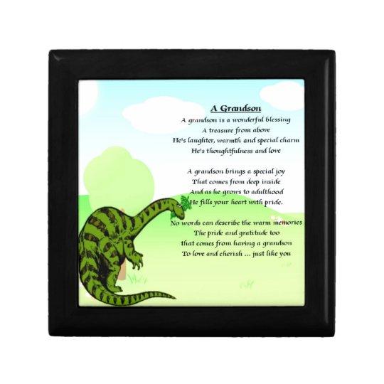 Grandson Poem - Dinosaur Gift Box