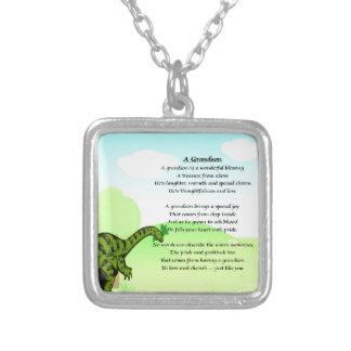 Grandson Poem - Dinosaur Necklaces