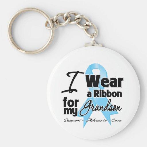 Grandson - Prostate Cancer Ribbon Keychain