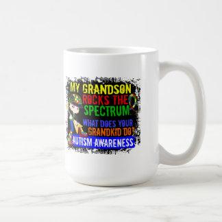 Grandson Rocks The Spectrum Autism Coffee Mug