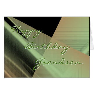 Grandson Sage-Blk -customize any occasion Greeting Card