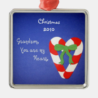 Grandson, You are my Heart. Christmas Ornament