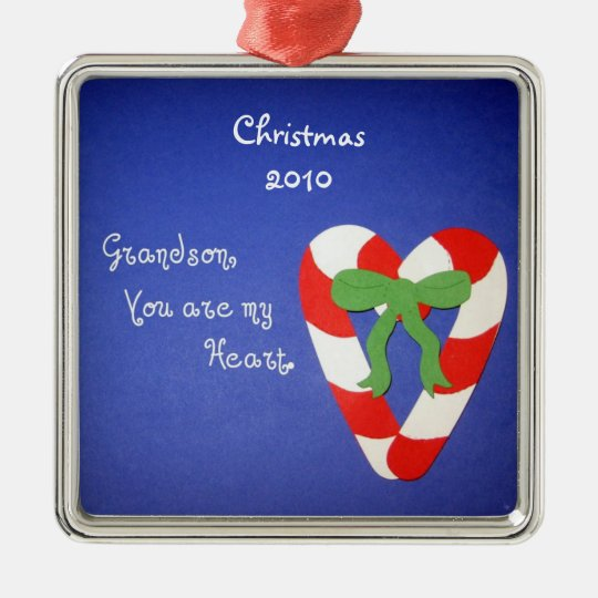 Grandson, You are my Heart. Christmas Ornament | Zazzle.co.uk